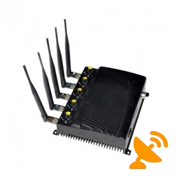 5 Antenna Adjustable Cell Phone & Wifi & GPS Jammer Wall Mounted 40M