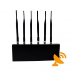 Cell Phone Signal Jammer + Wifi Jammer 6 Antenna 20M