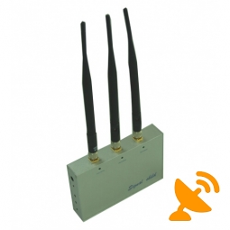 3 Antennas GSM CDMA 3G DCS PHS Cell Phone Jammer with Remote Control 20M