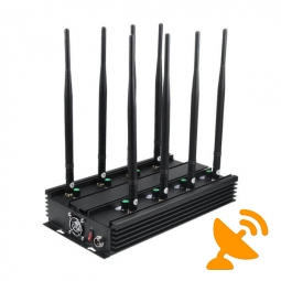 Ultimate 8-Band Wireless Signal Jammer Terminator for Mobile Phone, WiFi Bluetooth, UHF, VHF, GPS, LoJack 60M
