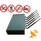 6 Antennas Adjustable Cellphone Wifi GPS Jammer 50M