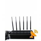 High Power Desktop Cell Phone & GPS & RF Jammer 40M