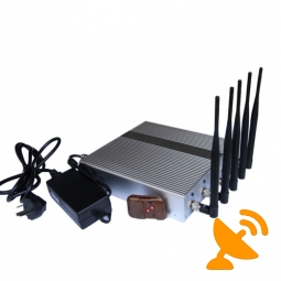 5 Band Cell Phone Jammer with Remote Control 40M