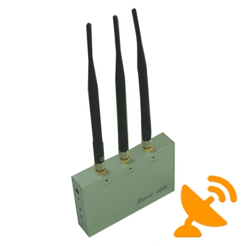 3 Antennas GSM CDMA 3G DCS PHS Cell Phone Jammer with Remote Control 20M - Click Image to Close