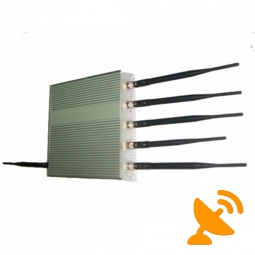6 Antenna Cell Phone GPS Wifi Jammer 40M