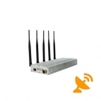 5 Antenna UHF Audio Jammer 450-470 MHz + Cell Phone Blocker 20M