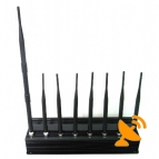 8 Antenna All in one for all 3G 4G Cellular,GPS,WIFI,Lojack Jammer system 60M