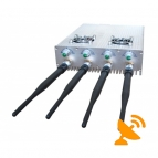 4 Antennas Adjustable Remote Control 3G Cell Phone & WIFI Jammer 30M