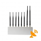 8 Antenna High Power Jammer Cell Phone + Wifi + GPS + VHF UHF Walkie Talkie Jammer 40M