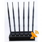6 Antenna 3G Cell Phone + Wifi + UHF VHF Signal Walkie Talkie Jammer 40M