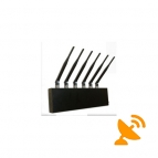 6 Antennas Desktop CellPhone & GPS & Wifi Jammer 20M