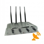 4 Antennas Wall Mounted Cell Phone Jammer 30M