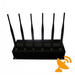 6 Antennas Wall Mounted 3G 4G Cellphone Jammer 40M