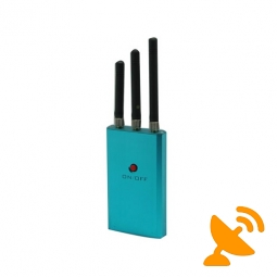 Mini Blue Cell Phone Jammer - CDMA,DCS,3G 10M