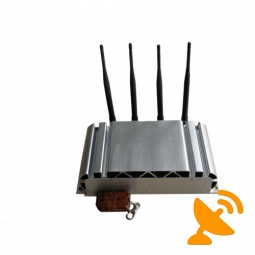 4 Antennas Adjustable Cell Phone Jammer with Remote Control 40M
