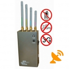 5 Band Portable GPS & 3G Mobile Phone Jammer 10M
