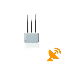 3 Antennas Wall Mounted Cell Phone Jammer 20M