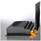 Adjustable Cell Phone Jammer 3G GSM CDMA DCS PHS Signal 40M