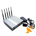 3G 4G LTE High Power Mobile Signal Blocker with Remote Control 40M