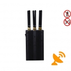 6 Antenna Handheld 4G Cell Phone & WIFI Jammer 15M